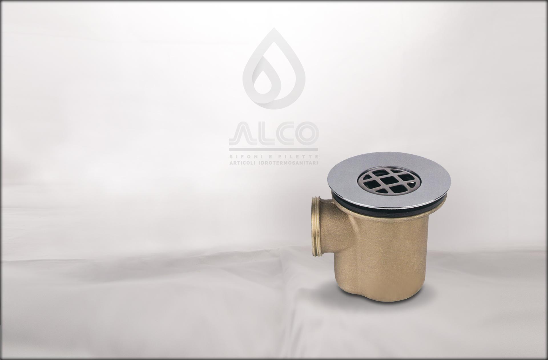 Piletta piatto doccia sifoide modello pesante alco - Pilette per doccia ...